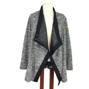 Two by Vince Camuto 1X Asymmetrical Ponte Jacket